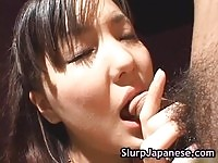 Voluptuous Japanese babe messy facialed