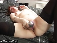Real Dutch mature toying