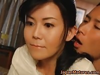 Slim Japanese milf forced to fuck