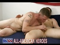 Two marines in gay action
