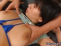 Busty asian gets licked