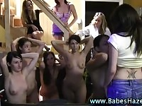 Sweet teens in college action
