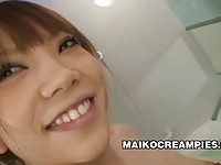 Cute Japanese girl Ai Oosato creampied