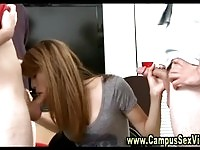 Real college babes sucking cocks for fun