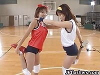 Young Japanese babes working out