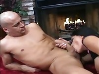 BUsty  Jenaveve in hard action by the chimney