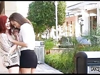 Naughty dykes making out in public