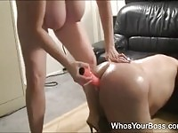 Mature, busty, bully chick, intimidating ber blind neighbor.