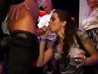Drunk babes sucking on a party