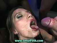 She will have all of the cum swallowed!