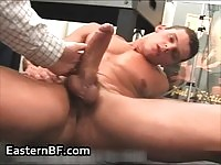 Sexy dude getting wanked