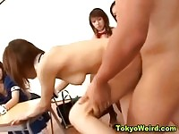 Cute japanese schoolgirl fucked an facialized in class
