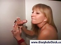 A mature slut getting anal thru gloryhole