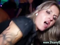 Dirty cfnm sluts sucking on a party