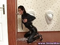 Huge hard toy just for her at the gloryhole.