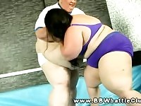Obese BBW sluts wrestling each other