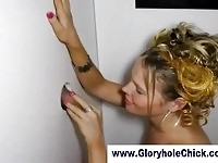 Amateur gloryhole slut turns into an expert cocksucker