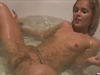 Sweet Sasha masturbating in bathtub