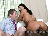 Mature husband jerking near his cheating wife