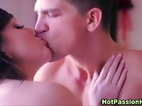 Sexy brunette gets anal plug in