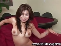 Asian beauty exposing all the skin