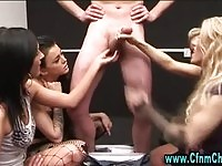 Four cfnm sluts in hand job