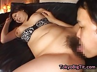 Busty asian babe getting licked and fingered