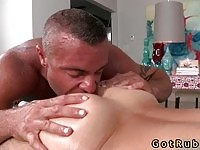 Watch this masseur licking ass!
