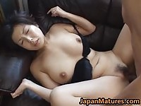 Horny asian housewife gets a nice creampie