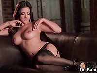 Sunny Leone showing off her amazing breasts and teasing you