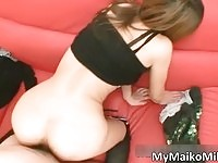 Attractive japanese MILF gets toyed and fucked from behind
