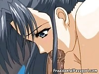 Delightful hentai brunette gets her pussy drilled really hard