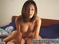 Exotic amateur babe tries different positions