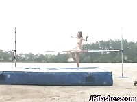 Nude japanese babes practicing their jumps