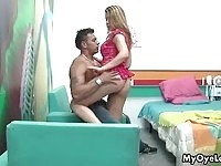 Hottest blonde latina gets her body rubbed