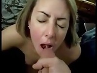 A real amateur blonde gives head!