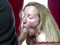 A mature Amsterdam whore on the job!