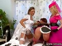 BDSM fetish chicks humiliating a sissy