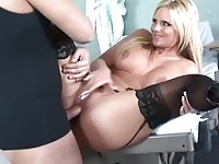 Blonde beauty fucking her doctor!