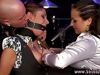 Amazing babes playing a naughty BDSM lezdom game