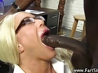 A busty blonde mom nailed by a black hunk