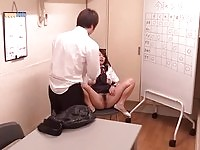 She gets toyed and fucked in the classroom
