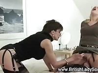 Two MILF femdoms spoiling their subject