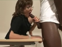 Horny British Mature spoils two hard dongs