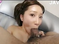 Sexy asian babe gets a cumshot before an ass exam