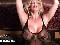 Busty and sexy milf riding a sybian