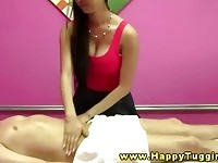 Real oriental masseuse doing he job