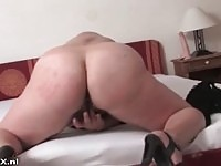 Cock craving mature goes solo