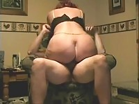 Horny amateur MILF riding on her husband's dick