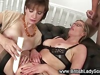 Sexy MILF gets her pussy toyed while taking a facial